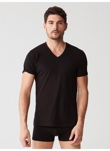 Mod Collection Erkek 2 Li T-Shirt Siyah